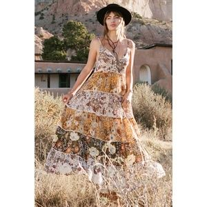 Spell & the Gypsy Desert Daisy Maxi Dress NEW M